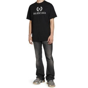 Balenciaga Crest Logo T-Shirt Black Logo Tee Shirt